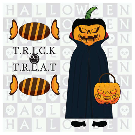 treat: trick or treat halloween poster