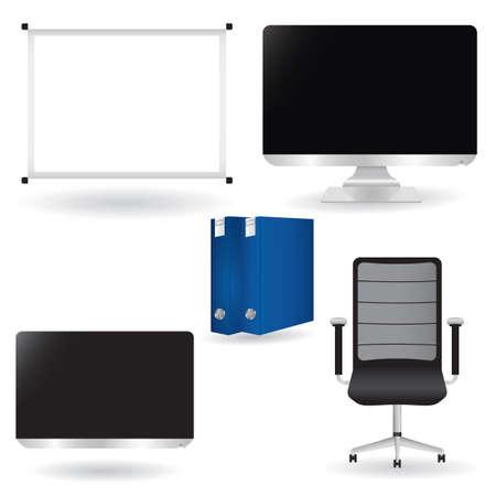 Office icons set Stock Illustratie