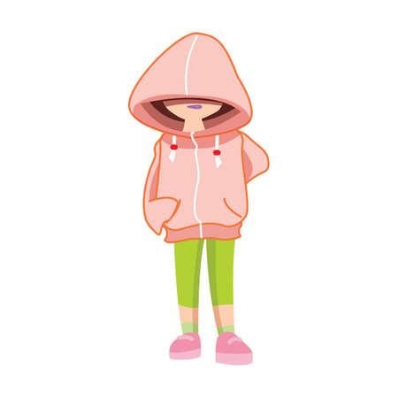 hoodie: girl in hoodie