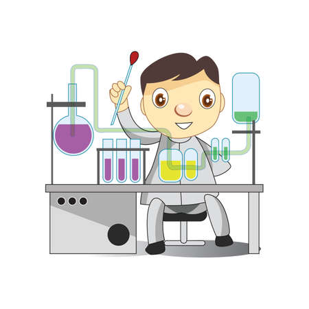 experimenting: doctor experimenting in laboratory