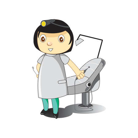 dental chair: dental doctor near dental chair