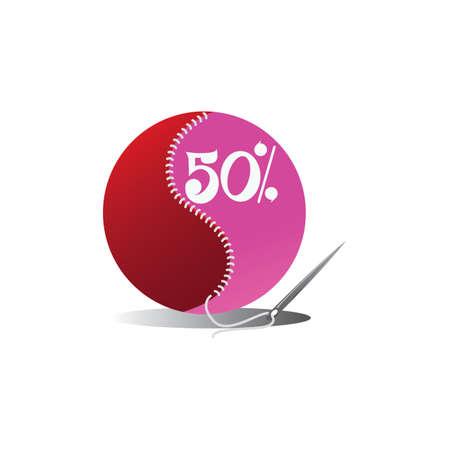 50: 50 percent off label
