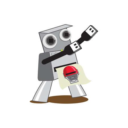 photograph: instant camera robot photograph
