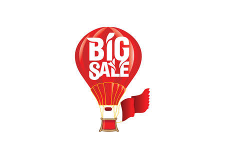 proclaim: big sale label Illustration