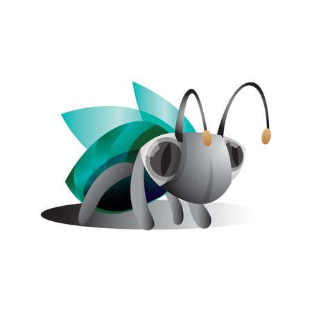 hairy legs: fly Illustration