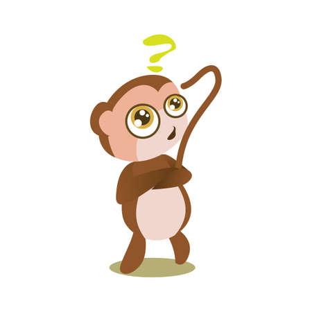 doubtful: monkey in doubtful mood