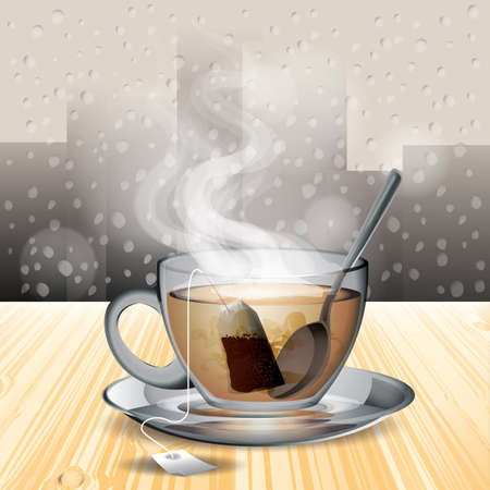 eatery: a cup of tea in a cafe