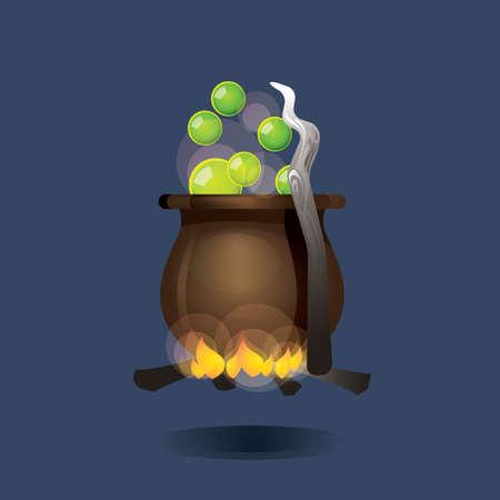 venomous: cauldron on fire Illustration