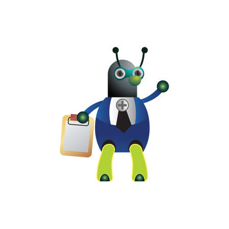 clip board: doctor ant holding clip board Illustration