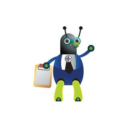 clip board: doctor ant holding clip board Illustration