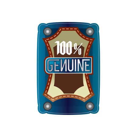 genuine: 100 percent genuine label