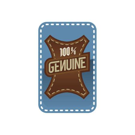 100 percent genuine label