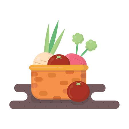 vegatables: vegetables in basket