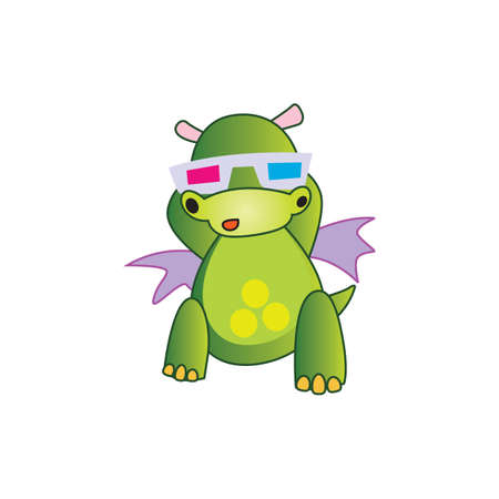 goggles: dragon with goggles Illustration