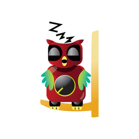 zzz: owl sleeping