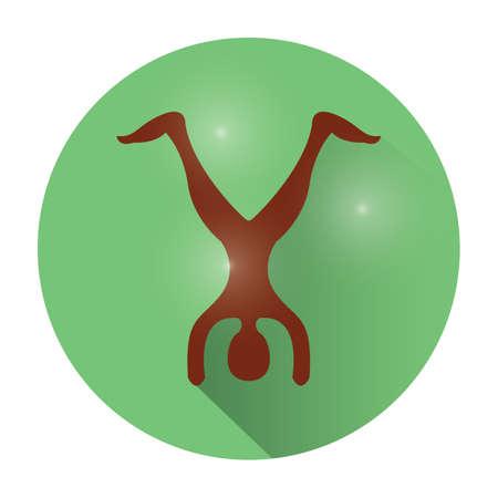 handstand: yoga handstand pose Illustration