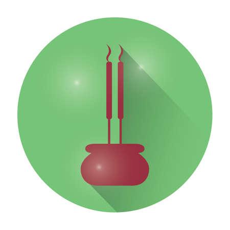 incense: incense sticks Illustration