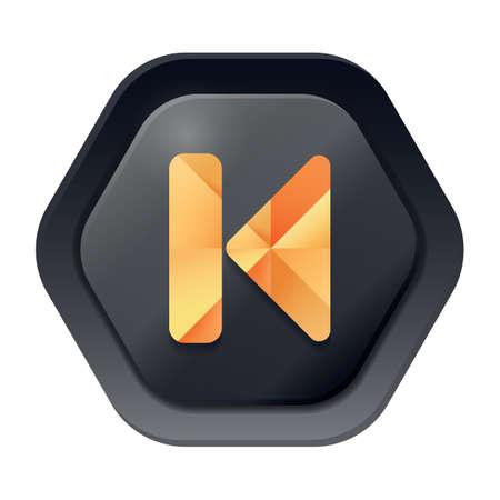 web button: previous track web button
