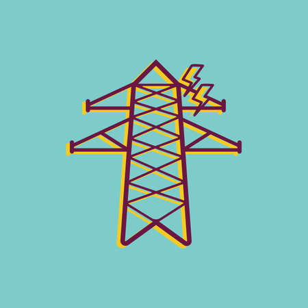 electricity transmission tower Illustration