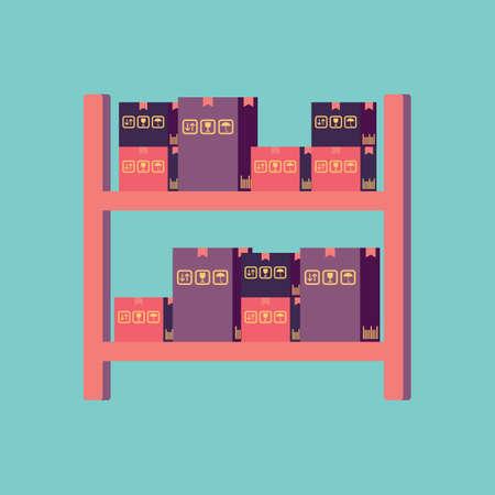 parcels: parcels on the shelf
