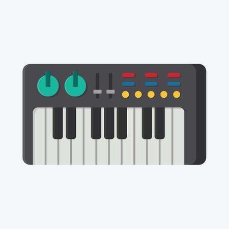 the electronic: electronic keyboard Illustration