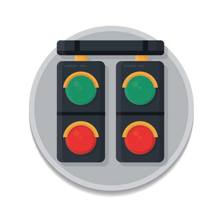 dragging: race track lights