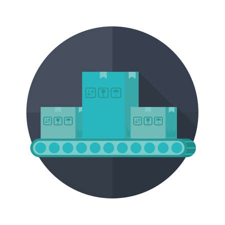 conveyor: parcels on the conveyor belt