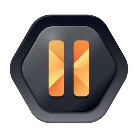 web: pause web button