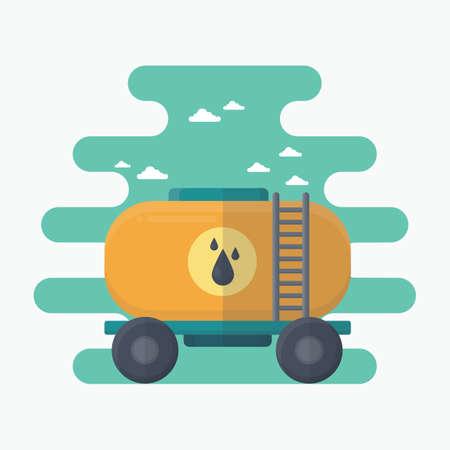 wagon: tank wagon Illustration
