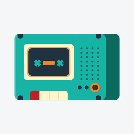 tape recorder: cassette tape recorder