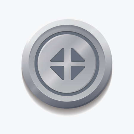 minimize: minimize web button Illustration