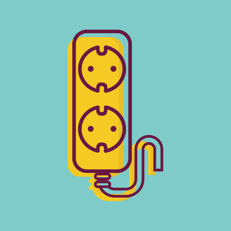 extension: extension cord Illustration