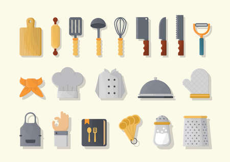 alright: set of kitchen icons Illustration