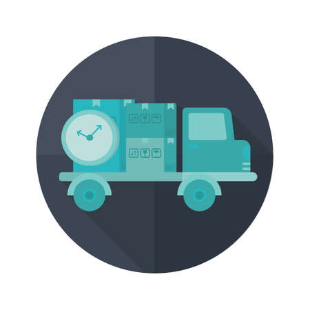 delivery truck: delivery truck with clock