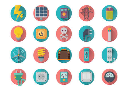 ammeter: set of electrical icons Illustration