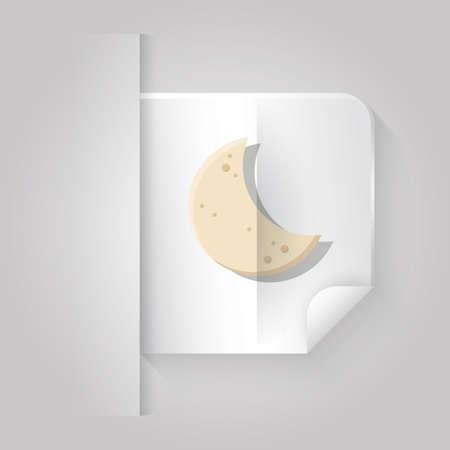 crescent moon Illusztráció
