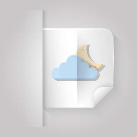 cloudscapes: cloud and crescent Illustration