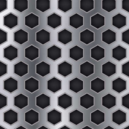 metallic: metallic honeycomb background Illustration