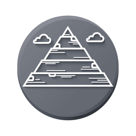 egypt pyramid: pyramid of egypt Illustration