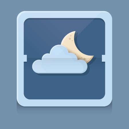 crescent: cloud and crescent Illustration