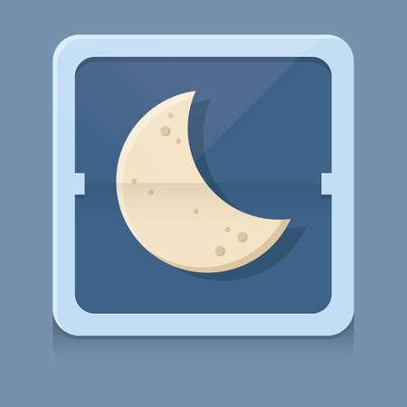 wassende maan Stock Illustratie