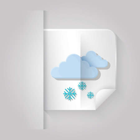 cloudscapes: cloud and snowflake Illustration