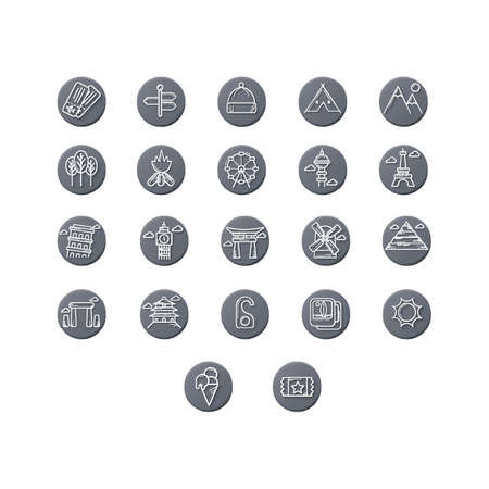 dai: collection of travel icons Illustration