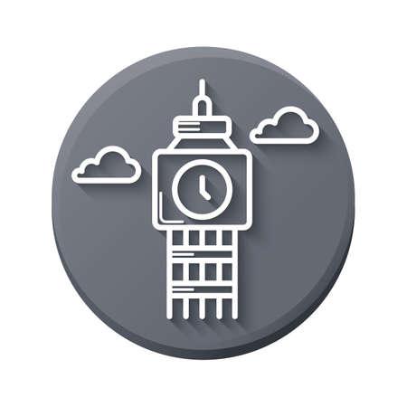 edinburgh: edinburgh clock tower Illustration