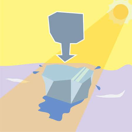 melting: melting iceberg Illustration
