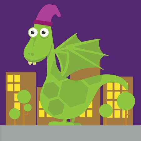 wearing: dragon character wearing cap