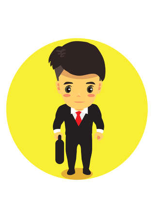case: businessman with brief case Illustration