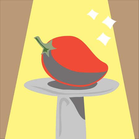 chilli: chilli under the spotlight Illustration