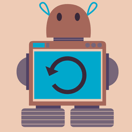 back button: robot with back button
