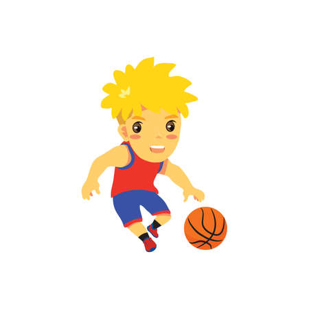 basket ball: basket ball player in action Illustration